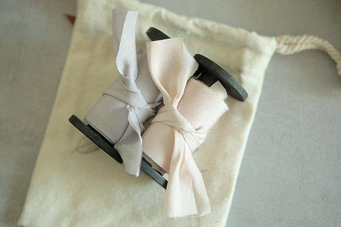 Florist set Natural Dyed Silk Ribbon