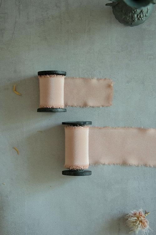 Mauve Blush Natural Dyed Silk Ribbon