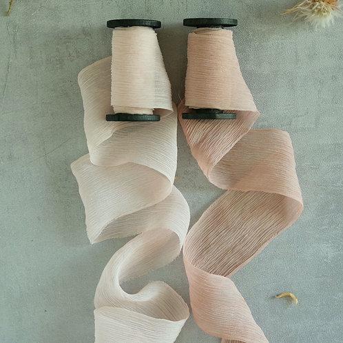 Soft Blush Set Natural Dyed Silk Ribbon