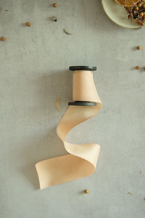 Nude  Natural Dyed Silk Ribbon