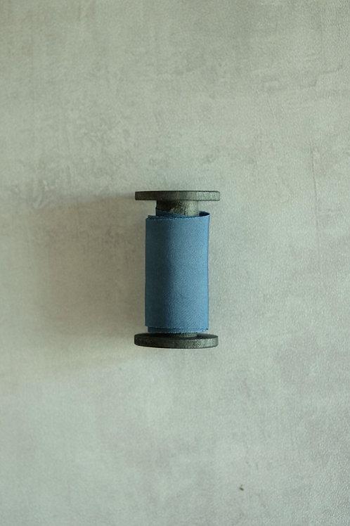 Dark Greyish Blue  Natural Dyed Silk Ribbon