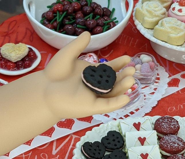 Chocolate Heart Sandwich Cookie