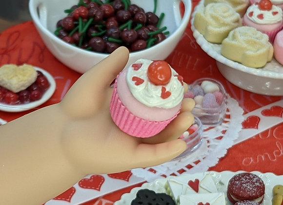 Pink Valentine Cupcake (one)