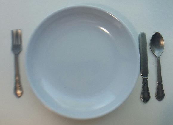 Large White Dinner Plate