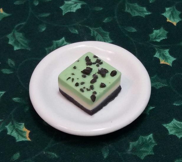 Grasshopper Cheesecake Bar Cookie