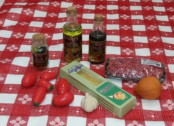 Spaghetti Making Ingredients