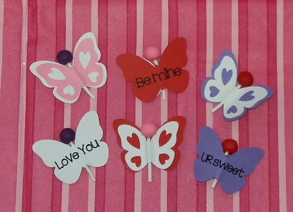 Valentine's Butterfly Lollipop
