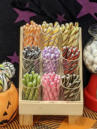 Barber Pole Candy Sticks