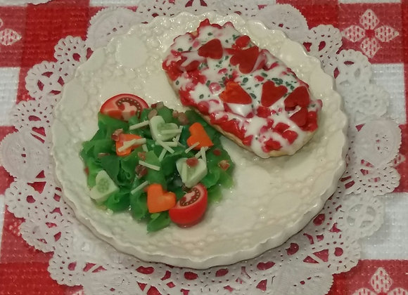 French Bread Pizza & Love-ly Salad