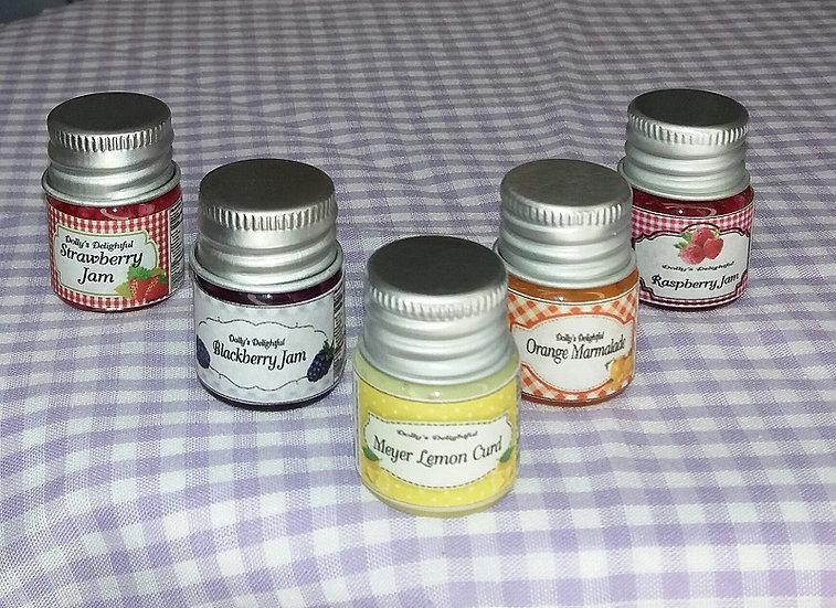 Dolly's Delightful Jam Jars - 5 Flavors