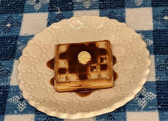 Waffle with Butter & Syrup