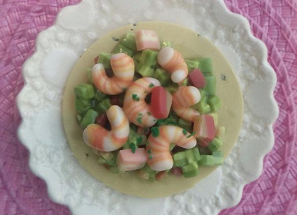 Avocado Shrimp Tostada