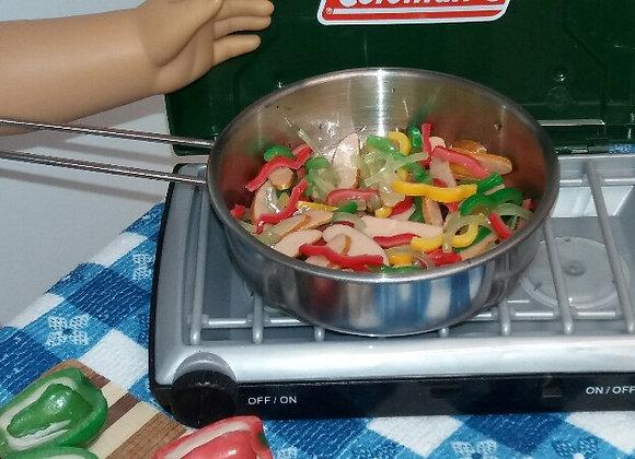 Pan of Chicken Fajitas
