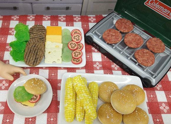 Grilled Burger Ingredients