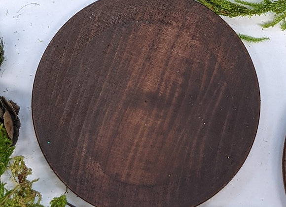 "Wooden Plate 2.5"" diameter"