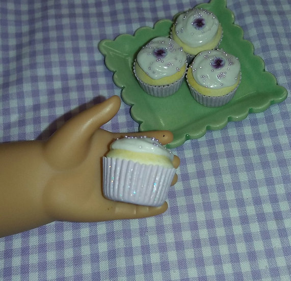 Candied Violet Cupcake