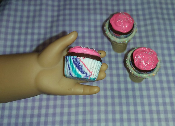 Pink Frosted Glitter Cupcake