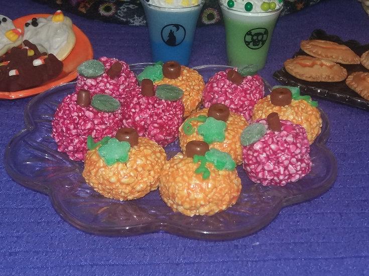Pumpkin Popcorn Ball