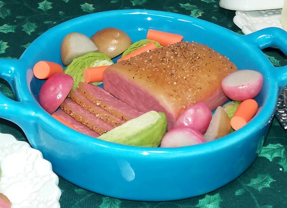 Whole Corned Beef & Cabbage with Dish