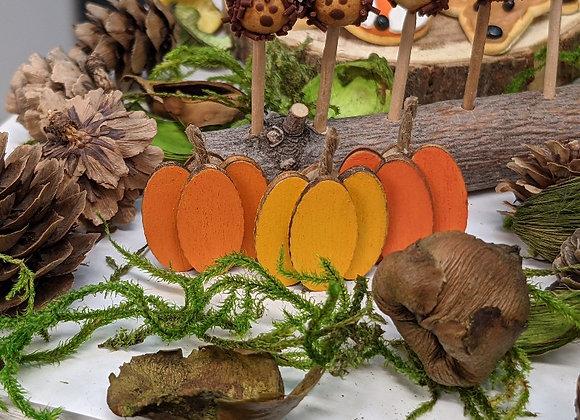 Wooden Pumpkin Decor (3 pc)