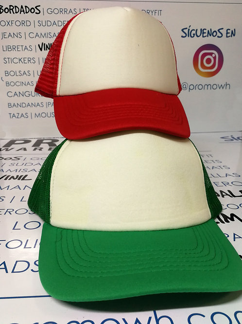 Gorras Truckers - Foam blanco malla de colores