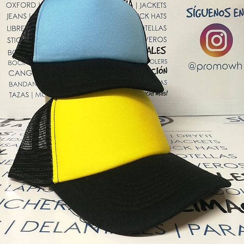 Gorras Truckers - Foam y malla de colores