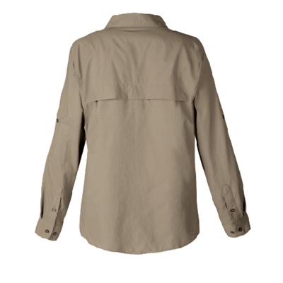 Camisa tipo columbia - atras