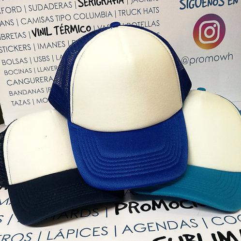 Gorras Truckers -Tonos azules