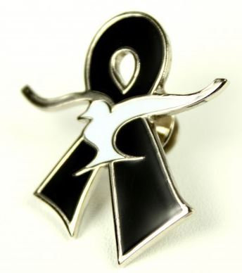 Large Silver Remembrance Pin