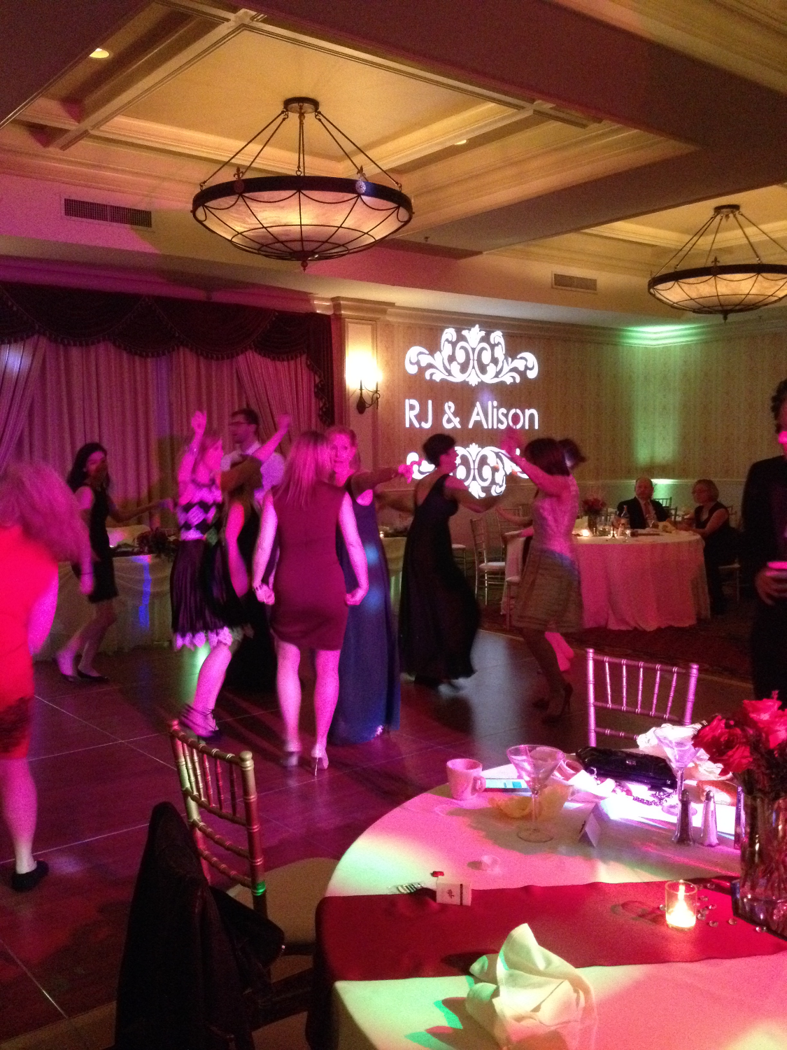 Monogram/Uplights Chicago Wedding DJ