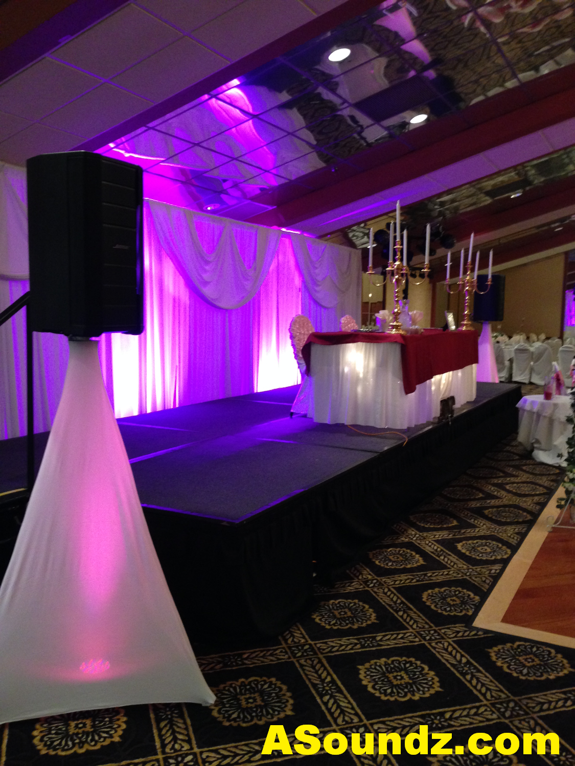Chicago Wedding DJ Wall Uplights