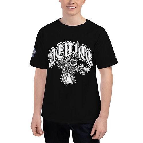 Left Side Skull Front Print Men's Champion T-Shirt