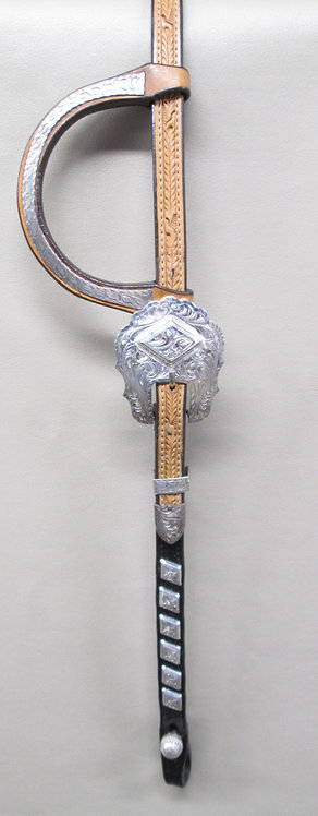 BLUE RIBBON SHOW HEADSTALL - two tone - stunning