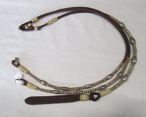 Used Broken Horn Sterling Overlay Romel Reins -