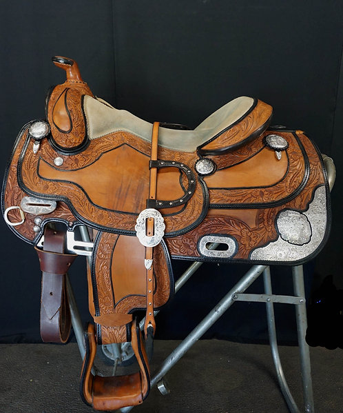"16"" Broken Horn Show Saddle - w/ Headstall"