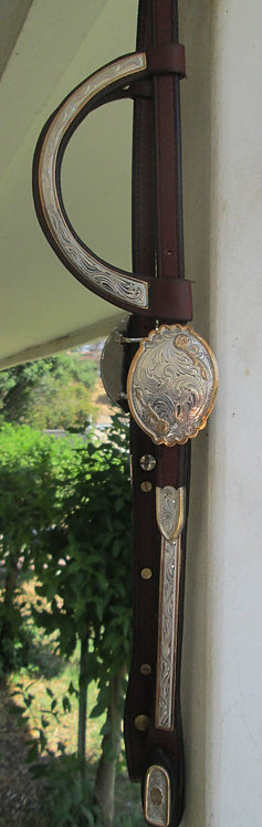 NEW JFS CUSTOM   2- Ear SHOW HEADSTALL