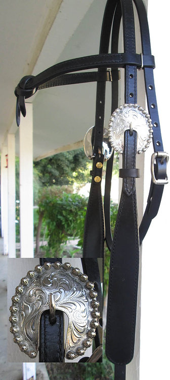 Horse Shop Black Buckaroo Headstall