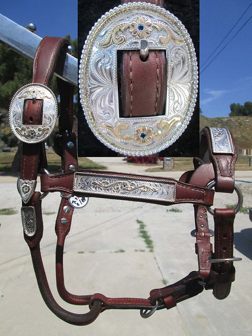 NEW - BROKEN HORN SADDLERY SHOW HALTER