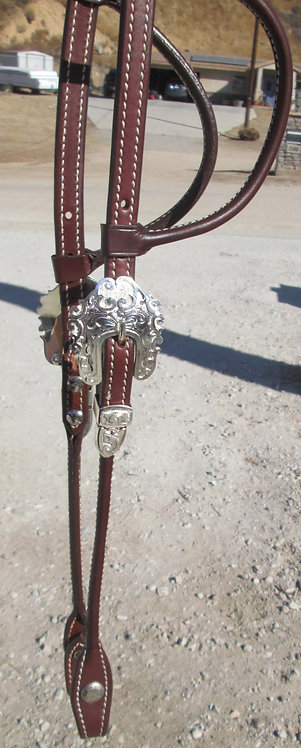 NEW Dale Chavez Silver plated show headstall