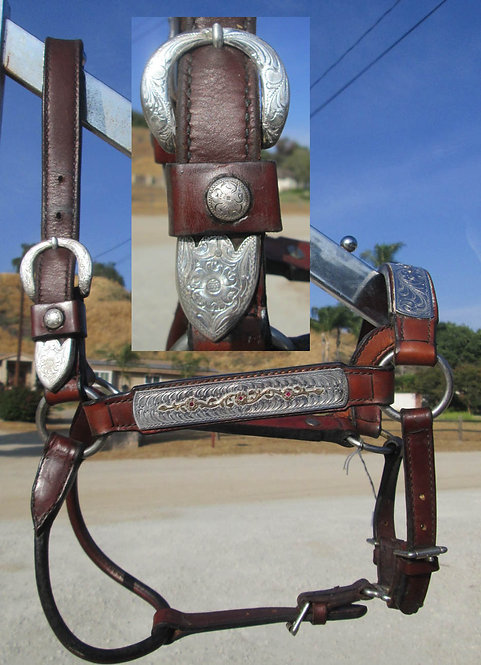 USED - UNMARKED BROKEN HORN SADDLERY SHOW HALTER