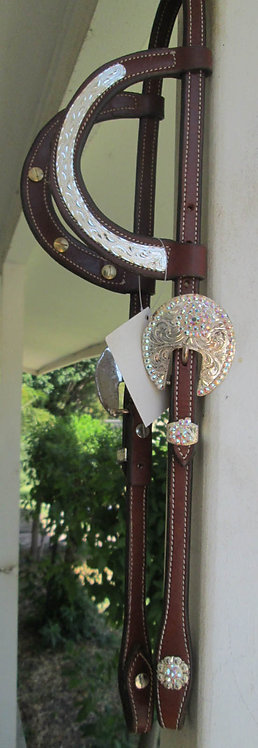 NEW Dale Chavez Silver plated 2-ear show headstall