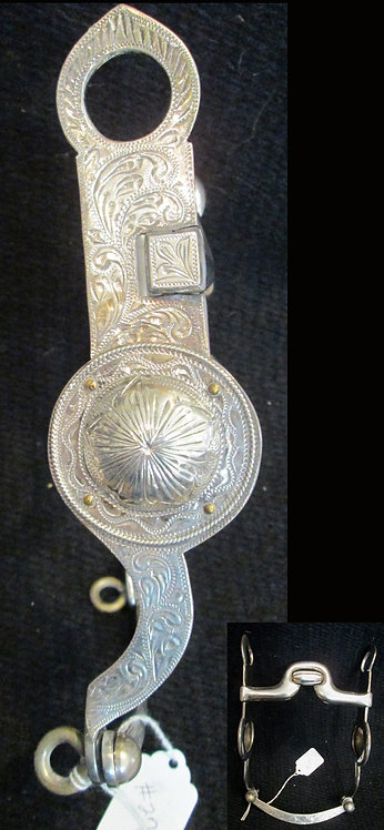 """5"""" Unmarked, unpolished  engraved, Sterling"""
