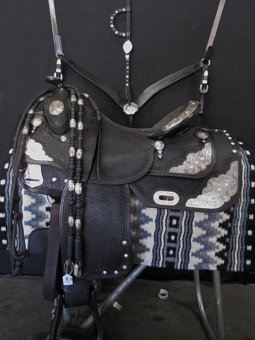 "16"" Sterling Overlay Show Saddle"