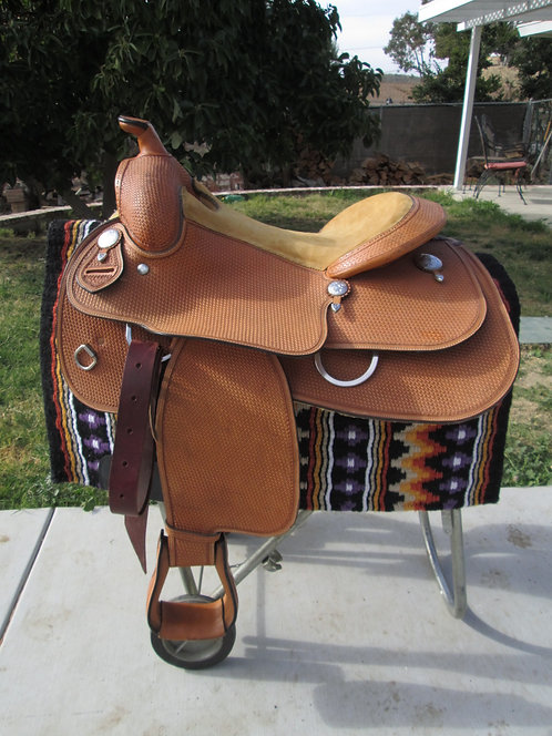 "16"" Unmarked Custom Ranch Saddle Similar to Bob's & Blue Ribbon tree"