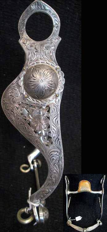 "5"" Vogt Marked unpolished, filigree shank Sterling"