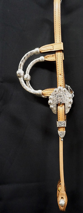 NEW JUST 4 SHOW SADDLERY HEADSTALL with Kathy's/Sterling brand buckles