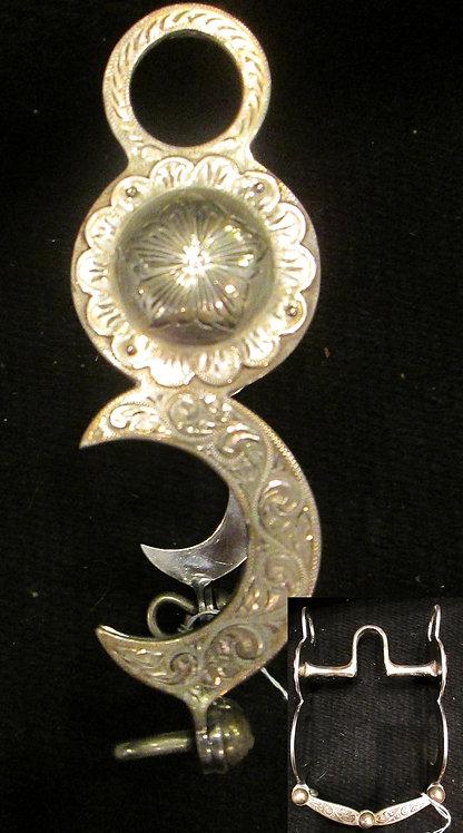 "5"" Rocha  Unpolished  engraved, Sterling"