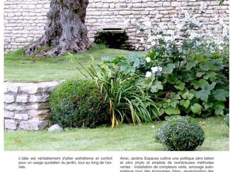 Jardins Espace s'invite dans le magazine Maison&Jardin