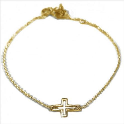 La croix évidée sur chaine