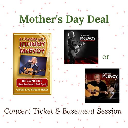 Johnny McEvoy Basement Session & Online Concert Ticket